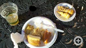 Knockwurst, sauerkraut, spicey mustard, lobster cigars