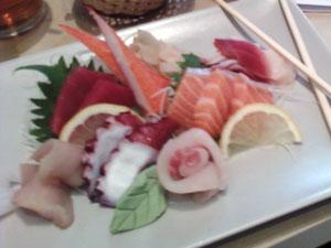 Sashimi lunch at Purple Bistro, westend greenville, sc
