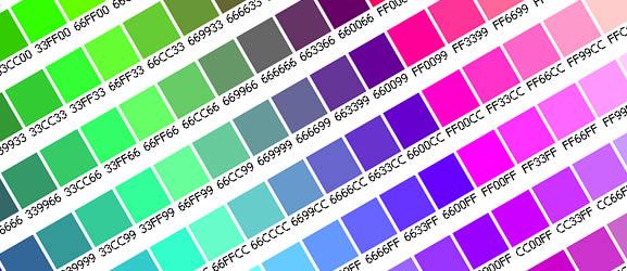 Web safe color chart