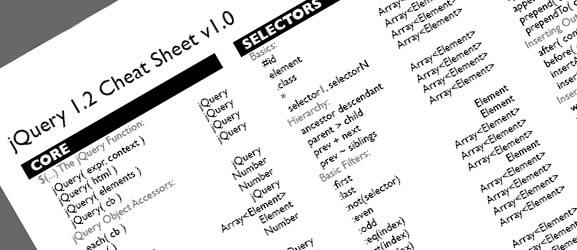 jQuery 1.2 Cheat Sheet