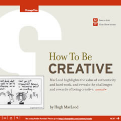 How To Be Creative by Hugh MacLeod