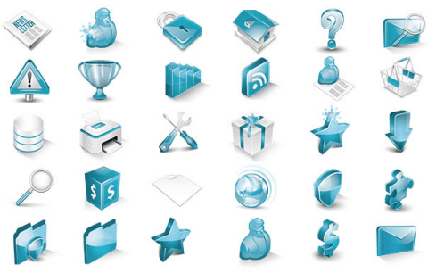 Turqua 3d isometric vector icons