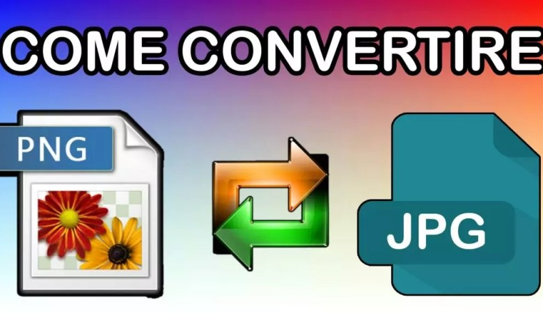 Come convertire PNG in JPG