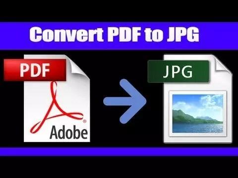 come convertire PDF in JPG
