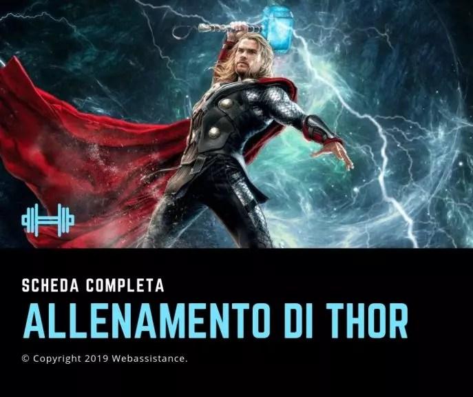 allenamento di Thor