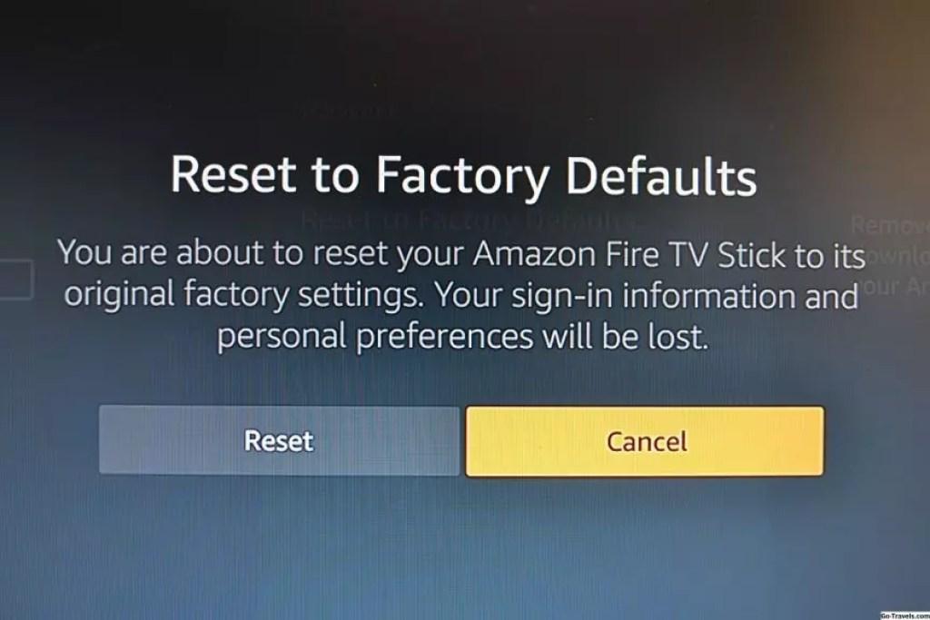 Come resettare Amazon Fire TV Stick alle impostazioni di fabbrica