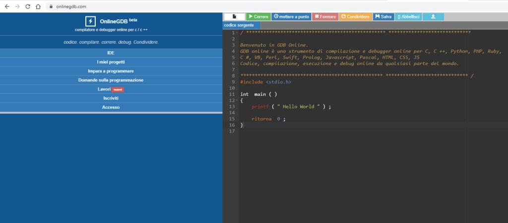 Il compilatore C