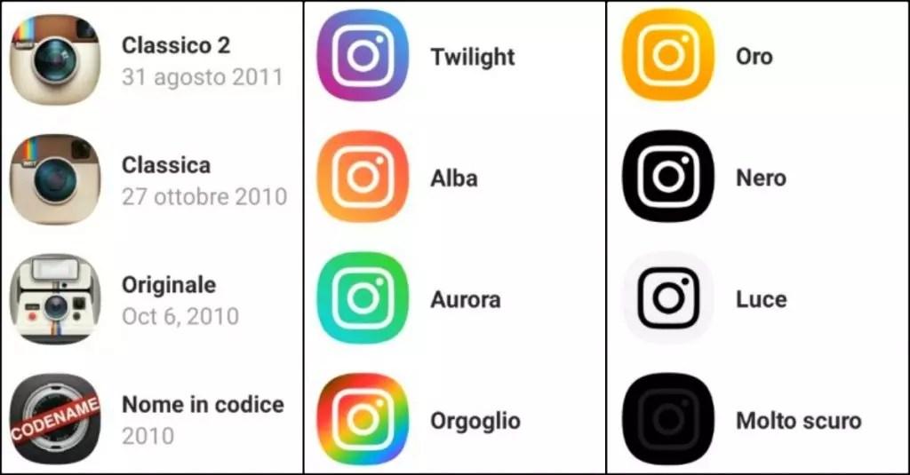 Cambiare icona Instagram