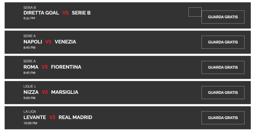Serie A gratis in Streaming