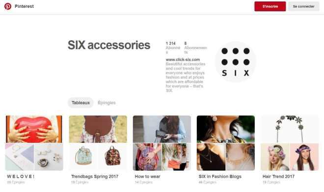 SIX accessories Pinterest