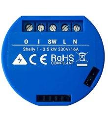 Shelly 1 WiFi schema elettrico di collegamento