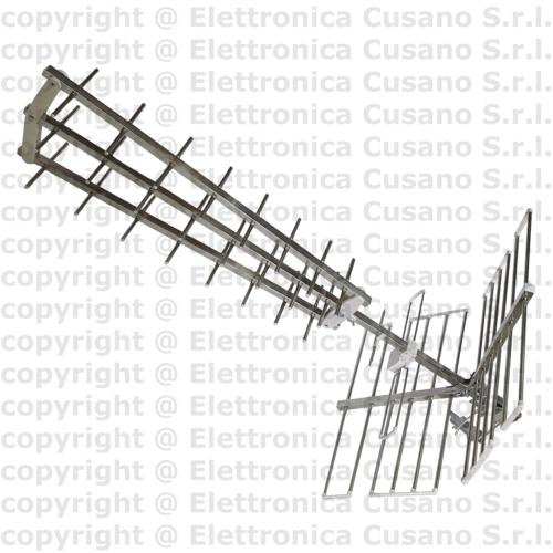Antenna Tv Uhf Tripla 28 Elementi