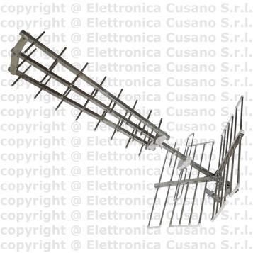 Antenna Tv Uhf Tripla 28 Elementi Anticorodal