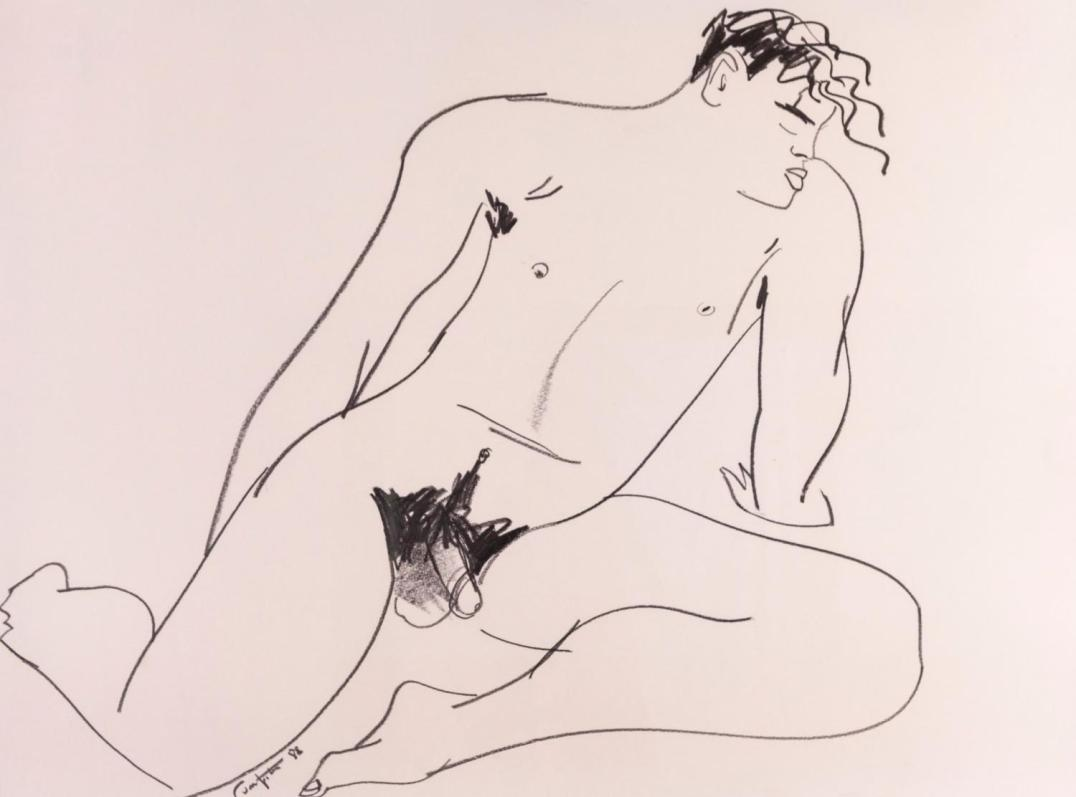 Lot 1 Rodney- Fumpston Jason I, Drawing on paper, Signed and dated '88, 600 x 770mm. Estimate: $600 - $1,000