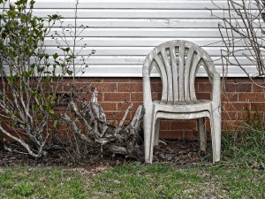 old dirty plastic chair