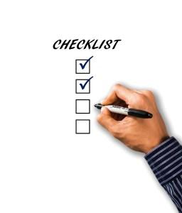 Hand a checklist