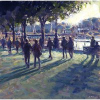 "David Farren _ ""Evening Shadows, Southbank"""