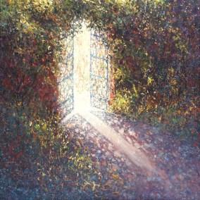 Gate at Sissinghurst 80x80cm