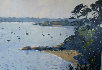 Peaceful afternoon on The Helford River. Oil on canvas, 36x48 inches