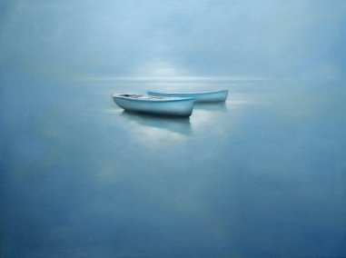Calm, oil on canvas, 97 x 130 cm