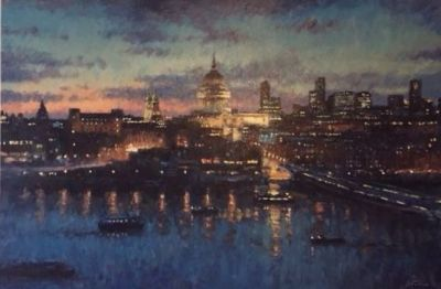 St Paul's Cathedral, 120 x 80 cm, acrylic on canvas
