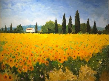 Sunflowers, Cheval Blanc