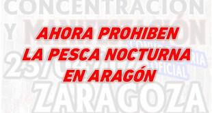 Prohibida la pesca nocturna en Aragón