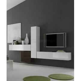 Tantissime proposte di living funzionali e belli disponibili in varie tonalità. Infinity 66 D Parete Attrezzata Bianco Lucido E Antracite
