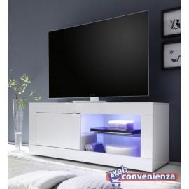 Mondo convenienza, arredamento per la casa a prezzi imbattibili. Basic Porta Tv Contenitore 1 Anta Bianco Lucido 140 Cm