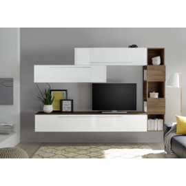 Le composizioni con pareti attrezzate in legno di zanette per stanze moderne ti aspettano da noi, per completare i tuoi spazi e organizzarli con classe. Infinity 10 B Parete Attrezzata Bianco Lucido E Noce Stelvio