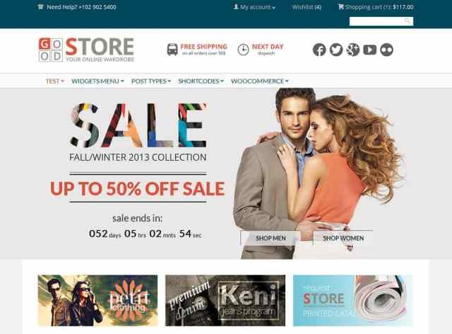 GoodStore WordPress eCommerce theme
