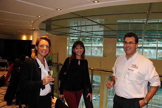 A droite : Maurizio Spinetta (PDG de Jet-travel et Webcroisieres.com)