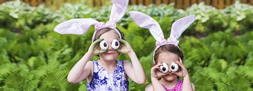 Des enfants en pleine vacances de Pâques !
