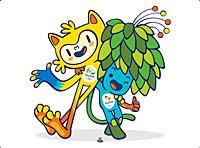 Les mascottes des Jeux Olympiques d'été 2016 organisés à Rio (Brésil)