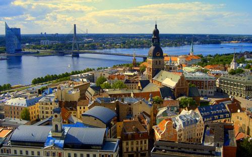 La ville portuaire de Riga