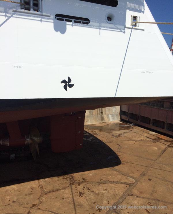 MSC Seaview en cal sèche
