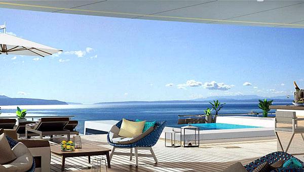 Terrasse prévue à bord des navires