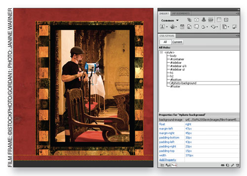 Add  Depth and Dimension in Dreamweaver CS4 image 10