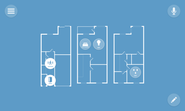 A floor strategy style diagram describes uses associated with autonomous home monitoring with Task Things