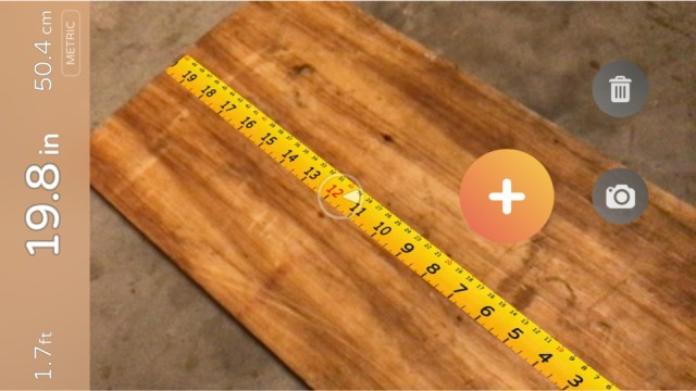 image of airmeasure, an augmented reality measuring tape