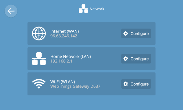 Router network settings