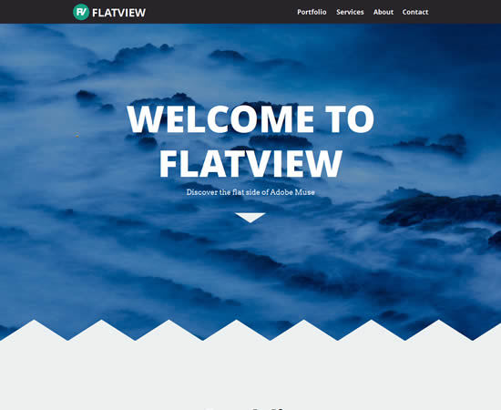 Flatview One Page Muse Theme
