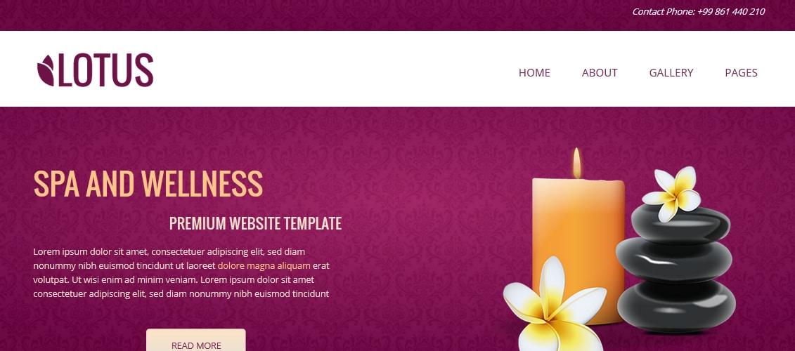 Lotus - Spa & Wellness Concrete5 Theme