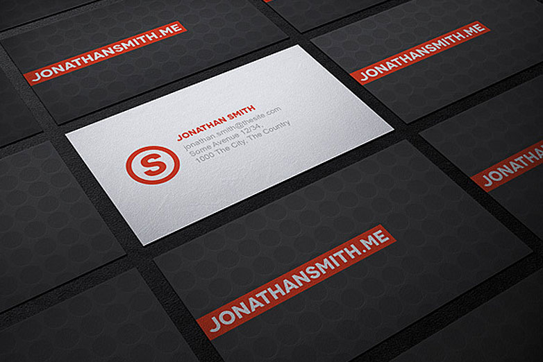 40 really creative business card templates   Webdesigner Depot Business card mockup   3