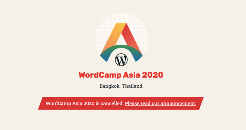 WordCamp Asia Cancelled - Coronavirus
