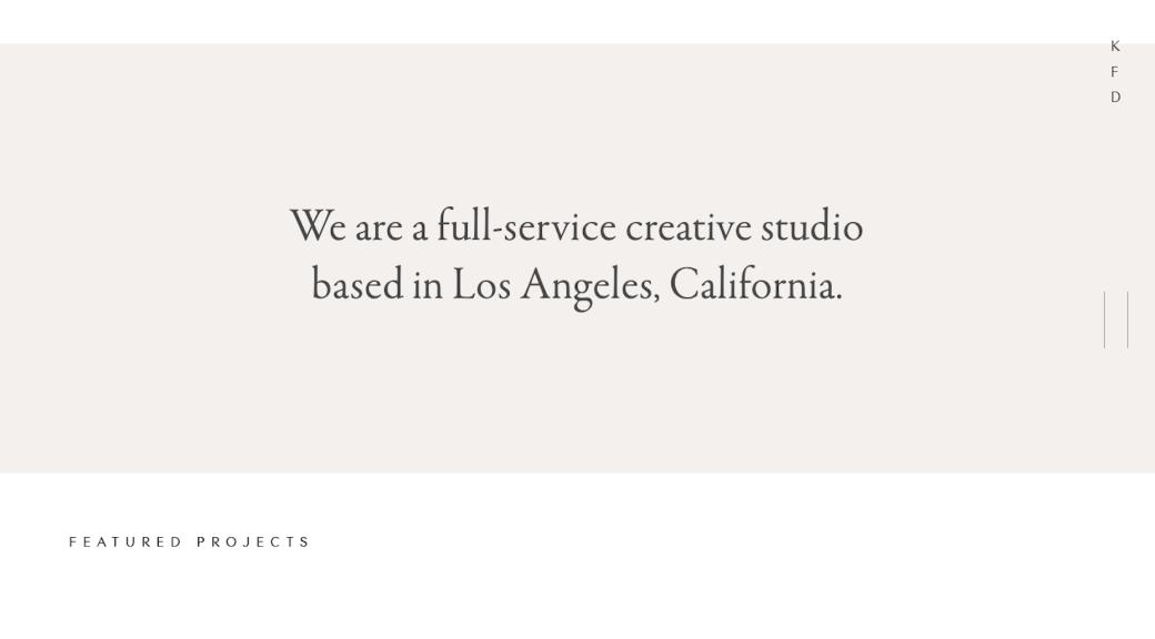 Site e introdução do portfólio da Kati Forner em 2019
