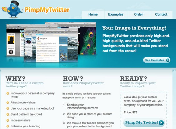 pimpmytwitter 50 giao diện đẹp của website doanh nghiệp