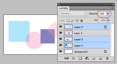 opacity on multiple layers