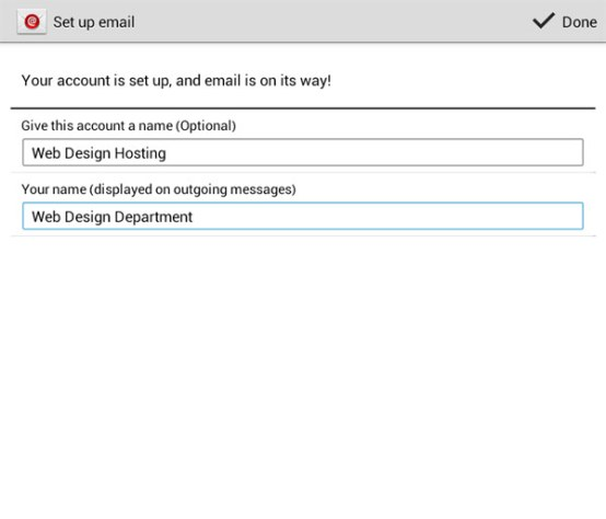 android email account setup