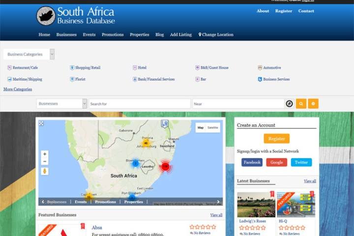 south african business directory
